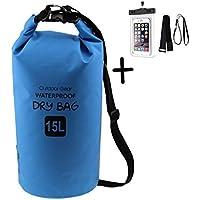 aehrebrn Premium bag-15l Sacco–Dry Sack Impermeabile e Galleggiante, Impermeabile con per borsa e tracolla lunga regolabile incluso, ideale per campeggio/pesca/Rafting/Nuoto/Canottaggio/Vela/Kayak/Snowboard