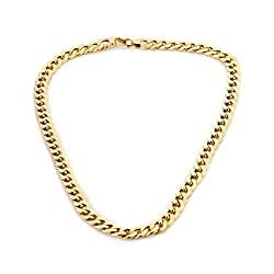 9ct Gold Curb Semi Hollow Chain Necklace Approx Weight 1oz Width 9.63mm Gives Heavy Impression Of 2½oz
