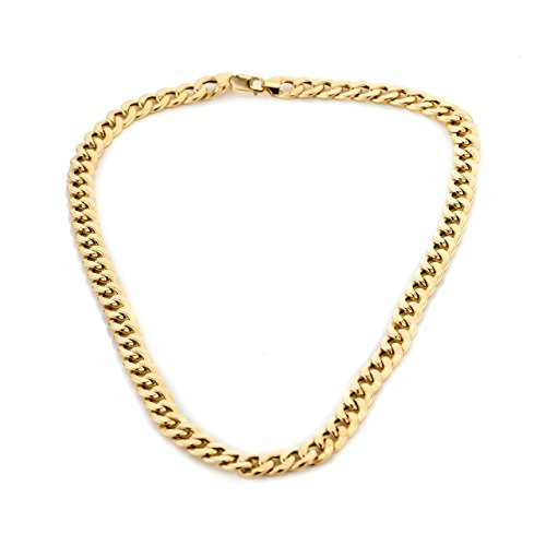 9ct Gold Curb Semi Hollow Chain Necklace Approx Weight 1oz Width 9.63mm Gives Heavy Impression Of 2½oz Special Offers Fathers Day