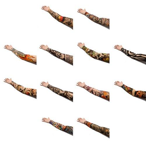 paquete-de-12-mangas-en-nylon-ajustable-con-tatuajes-falsos-por-kurtzy-tm