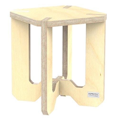 Birke Etagere (AUPROTEC Blumenhocker Beistelltisch HEB-44 Birke unbehandelt 25 x 25 x 30 cm Blumenständer Multiplex Birken-Sperrholz in exklusivem Design als Pflanzen-Säule Fußbank Hocker Tisch)