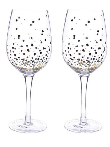 Kaemingk edles Weißweinglas mit Goldpunkten Preis für 2 Stück