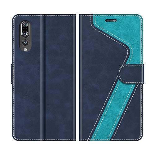 MOBESV Custodia Huawei P20, Cover a Libro Huawei P20, Custodia in Pelle Huawei P20 Magnetica Cover per Huawei P20, Elegante Blu