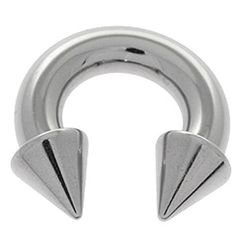 Grand Gauge Steel circulaire Barbell - Cônes 5mm x (Grandi Piercing Gauge)