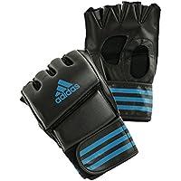 adidas MMA Guantes de Boxeo Grappling Training Glove, Negro/Azul, M, ADICSG08-2