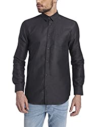 Jack & Jones Mens Casual Shirt (5713234043600_12112876Black_Medium)