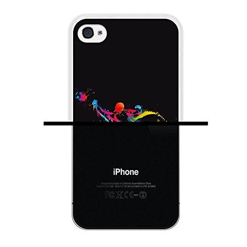 iPhone 4 iPhone 4S Hülle, WoowCase Handyhülle Silikon für [ iPhone 4 iPhone 4S ] Donuts Handytasche Handy Cover Case Schutzhülle Flexible TPU - Rosa Housse Gel iPhone 4 iPhone 4S Transparent D0007