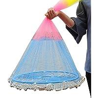 JESSIEKERVIN YY3 American Frisbee Multicolored Hand Throwing Net para Cebo de pez Cebo Trampa (Size : 6feet)