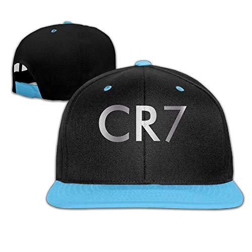 5d6a4f10137 Nifdhkw Big Boys Cristiano Ronaldo CR7 Logo Béisbol Estilo béisbol Snapback  Hat Royalblue Fashion10