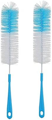 KindLook Nylon Long Plastic Bottle Cleaning Brush Cleaner Washer Tool (Colour May Vary) - Set of 2