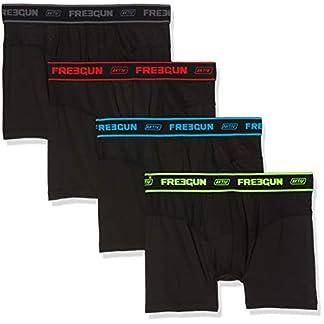 FREEGUN Men Boxer Culotte, Multicolor, Medium (Pack de 4 para Hombre