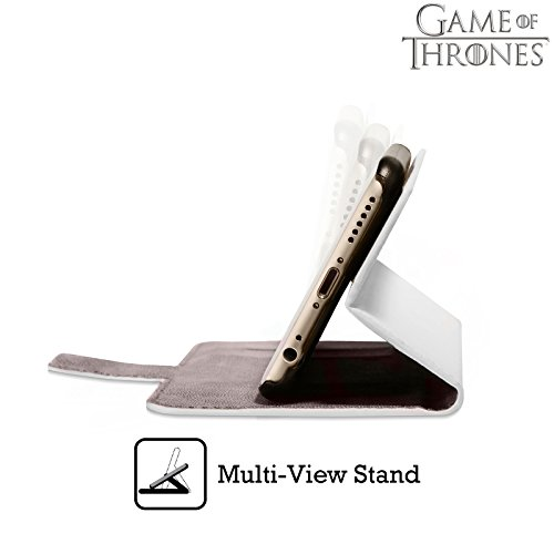 Offizielle HBO Game Of Thrones Eiserner Thron Key Art Brieftasche Handyhülle aus Leder für Apple iPhone 6 / 6s Eiserner Thron