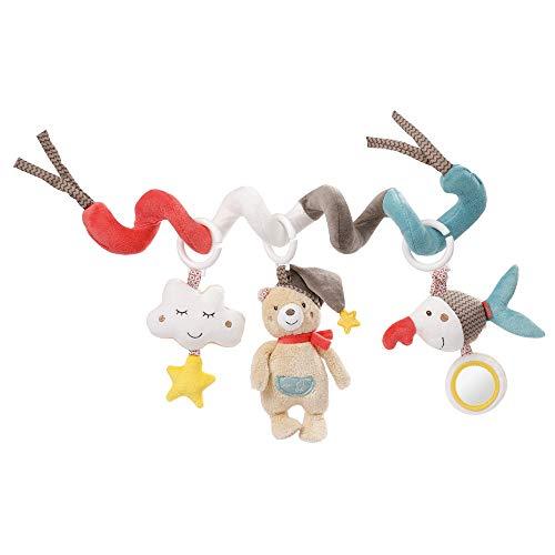 Fehn 060218 Activity-Spirale Bruno - Stoff-Spirale zum Greifen und Fühlen - Für Babys und Kleinkinder ab 0+ Monaten - Maße: 30 cm -