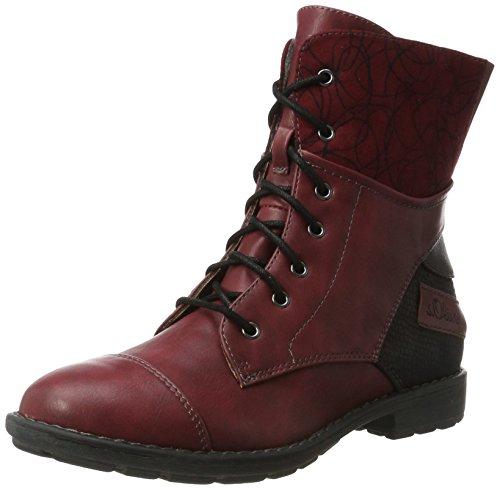 s.Oliver Mädchen 55201 Combat Boots, Rot (Dark Red), 36 EU (Combat Stiefel Für Kinder, Mädchen)