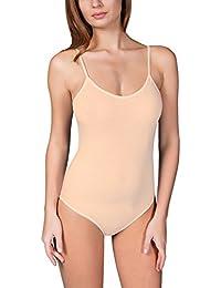 VEDATS Damen Body Spaghettiträger Top Unterhemd Bodysuit