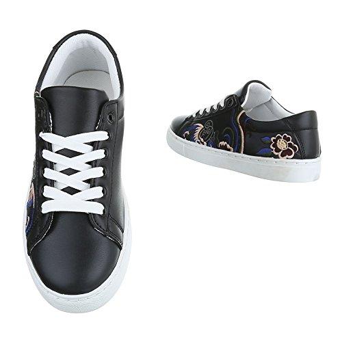 Ital-Design - Pantofole Donna Schwarz FC-S31