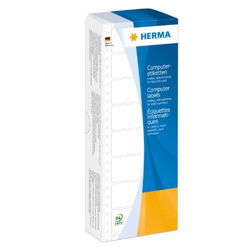 Herma 8166 Computeretiketten (Papier matt, 111,76 x 48,4 mm) 2000 Stück weiß