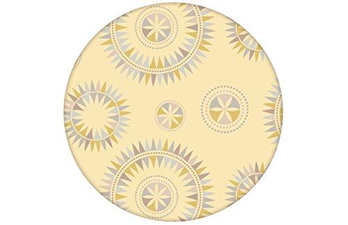 """Moderne skandinavische Tapete in gelb \""""Windrose\"""" mit reduziertem nordischem Design für Weltenbummler zum Träumen angepasst an Little Greene Wandfarben - Vliestapete Ornamente verschiedene Größen - skandinavische Wanddeko - GMM Design Tapete - Wandtapete - Wand Dekoration für nordische Wohnakzente (Muster 20 x 46,5cm)"""