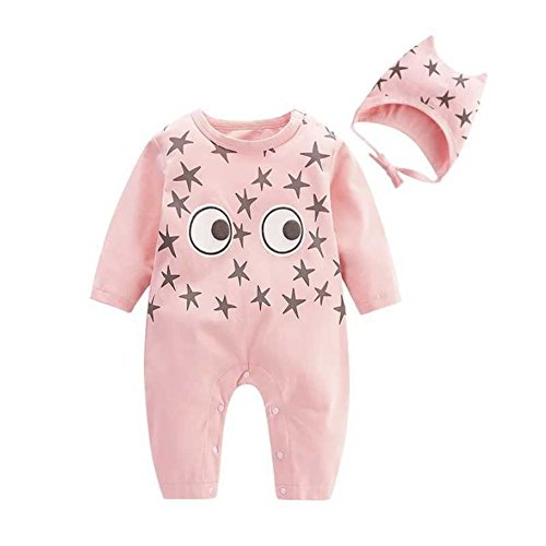 Baby Infant Toddlers Long Sleeve Star Print Rompers Jumpsuit Bodysuit