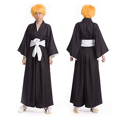 Vokaer Anime Death Note Cosplay Kostüm Death Clothes Clothing Ichigo Kurosaki Kleidung (Black),Schwarz,L