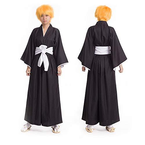 Shinigami Kostüm Ichigo - Vokaer Anime Death Note Cosplay Kostüm Death Clothes Clothing Ichigo Kurosaki Kleidung (Black),Schwarz,S