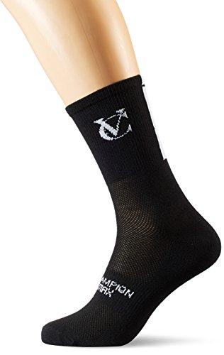 VELOCHAMPION SPEED LINE COOLMAX CYCLING SOCKS (PACK OF 3 PAIRS) (BLACK  UK 9 11/EU 43 45)