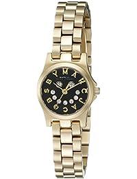 Marc by Marc Jacobs tono de oro decorado con cristales fallo independiente reloj esfera negra MBM3386