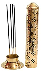 E-Handicrafts brass golden agarbatti stand