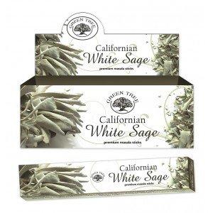 3x Arbre Vert sauge blanche Premium Bâtonnets d'encens (Lot de 3paquets de 12bâtons d'encens) 15g