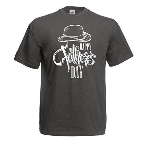 Männer T-Shirt Glücklicher Vatertag - bestes Geschenk von Sohn oder Tochter (Large Graphit (Uncle Bart Sam)