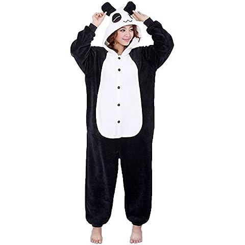 Moollyfox Kigurumi Pijamas Unisexo Adulto Traje Disfraz Adulto Animal Pyjamas Panda M