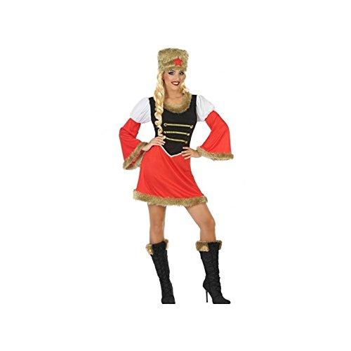 (ATOSA 54423 Russin Kostüm für die Dame Costume Russian Woman M-L, Rot/Schwarz/Weiss)