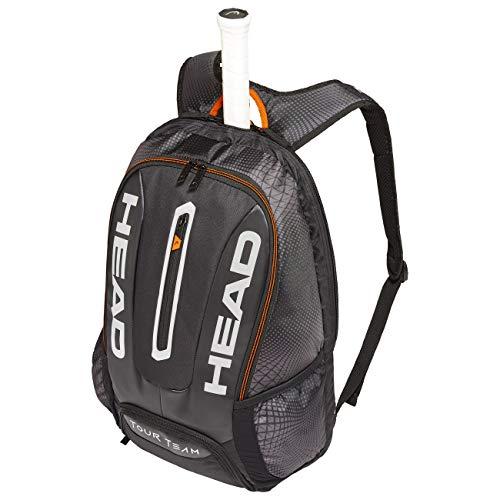 Head Tour Team Backpack, Borsa per Racchetta Unisex Adulto, Black/Silver, One Size