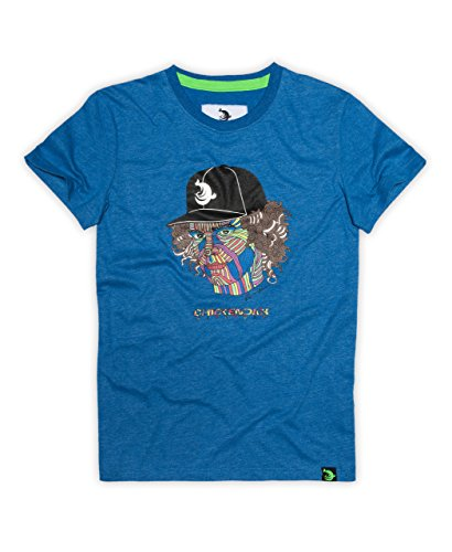 CHICKENDICK KITESURF Robinson Hilario T-Shirt blue melange Blue