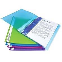Rapesco A4 0917 Flexi Presentation Display Book, Assorted Colours, 40 Pockets (Pack of 10)