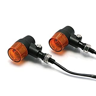 Alchemy Parts & Accessories Black Metal LED Indicators for Motorbikes Motorcycles Trikes with Amber Lens - Very Bright