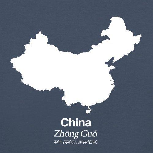 China / Volksrepublik China Silhouette - Damen T-Shirt - 14 Farben Navy