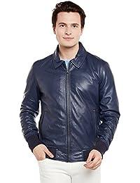 Bareskin Men's Navy Color Leather Jacket