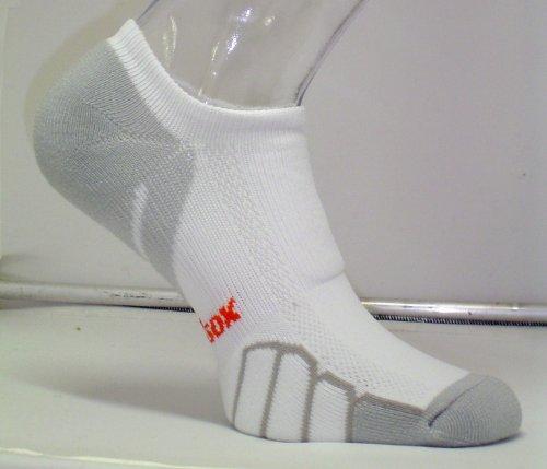 Gewicht-management-faser (VitalSox Laufshirt Ghost Light Gewicht Socke vt0310 Small weiß)