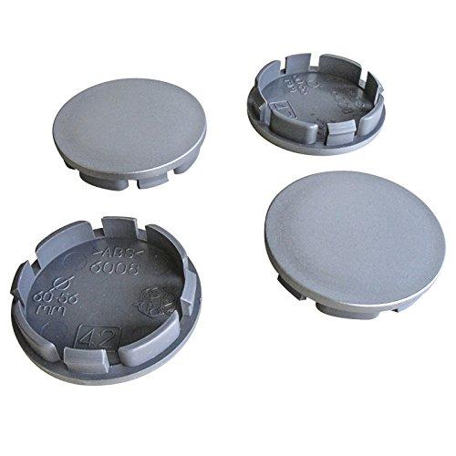 4x Nabenkappen 60 mm / 55,5 mm Nabendeckel Felgendeckel 60,0/55,5mm Universal Deckel
