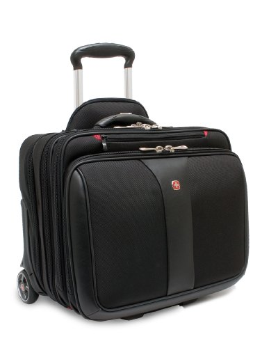 Wenger 600662 PATRIOT 17″ 2-Piece Business Wheeled Laptop Briefcase , Padded laptop compartment with Matching 15.4″ Laptop Case in Black {38 Litres}