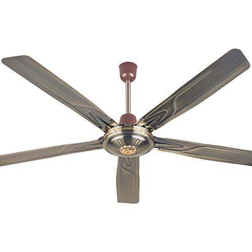 Ceiling fan light High Power Indoor/Outdoor Deckenventilator mit 56-Zoll-5-flügeligen Klingen, 3-Gang-Wandsteuerung -