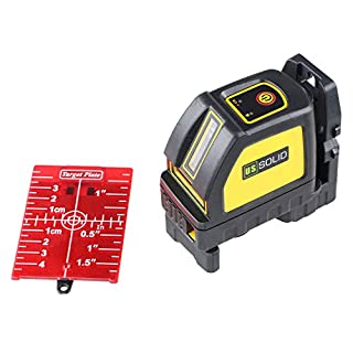 Laser Level, Self Leveling Cross Line Laser Red 98ft/30M with Magnetic Pivot Bracket, Red Laser Target, Cloth Bag, U.S. Solid Product