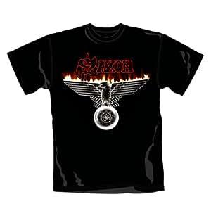 Saxon -Wings of Steel- men's black tee (X-Large)