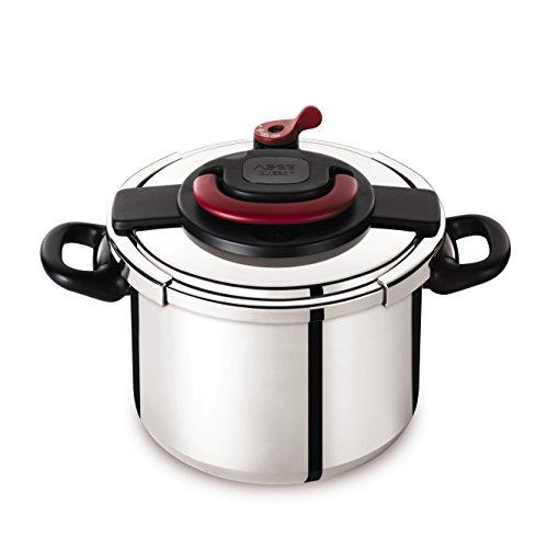 Autocuiseur SEB Clipso Plus P4371506 10L : 7 à 10 personnes - 2 programmes de cuisson - Panier vapeur - Ouverture/fermeture ultra facile - Poignées rabattables - Tous feux dont induction