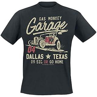 Gas Monkey Garage Go Big Or Go Home T-Shirt- Gr. L, Schwarz