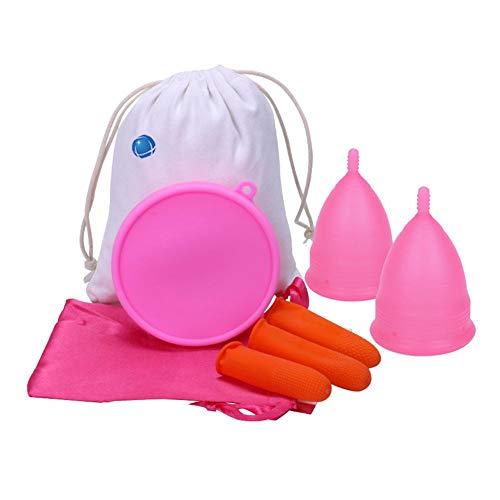 Kit copa menstrual silicona Mujeres portátil, período