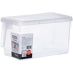 JIJI886 bac de Rangement avec poignées - conteneur de Stockage d'Aliments - Rangement pour Fruits et Légumes- pour Conserver Les vivres dans la Cuisine, au réfrigérateur ou au congélateur (A)