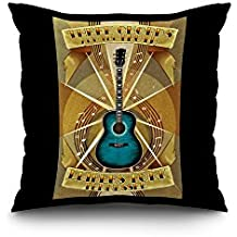 Leiper's Fork, Tennessee - Three Chords and The Truth (16x16 Spun Polyester Pillow Case, Black Border)