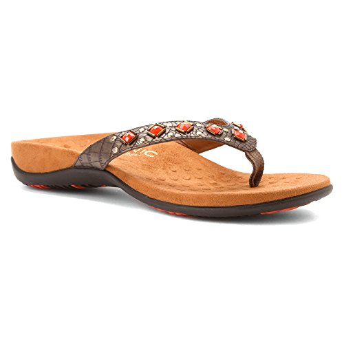 Vionic Womens 340 Floriana Synthetic Sandals Bronze - bronze